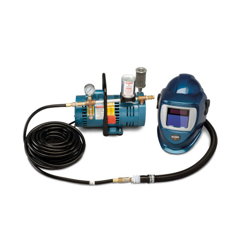 Allegro 9248-01 One-Worker Deluxe Shield & Welding Helmet System, 50'  Hose & ADF