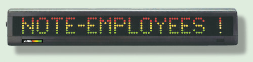 Electronic Moving Message Display- One Line