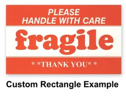 "Custom Paper Label Rectangle 1.25"" x 3.5"""