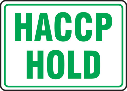 Haccp Hold - Plastic - 7'' X 10''