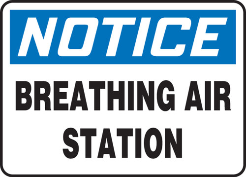 Notice - Breathing Air Station - Adhesive Vinyl - 10'' X 14''