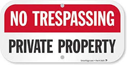 No Trespassing Private Road - .040 Aluminum - 12'' X 24''