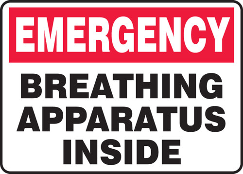 Breathing Apparatus Inside Sign