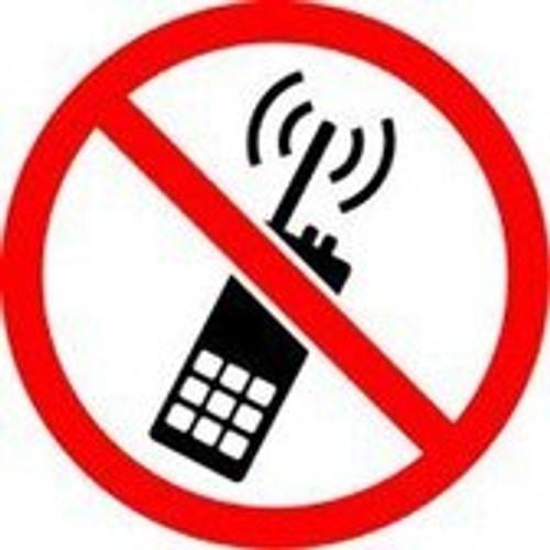 No Portable Transmitters - Plastic - 6''
