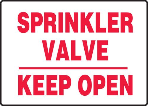 Sprinkler Valve Keep Open