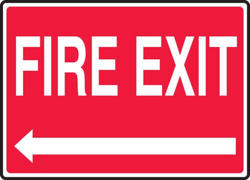 Fire Exit (Left Arrow) - Plastic - 7'' X 10''