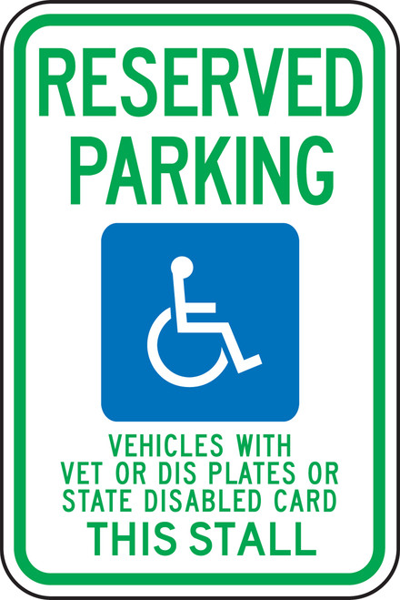 Wisconsin Reserved Parking Vehicles With Vet Or Dis Plates
