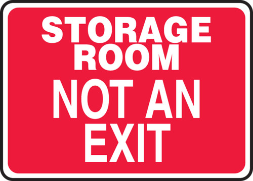 Storage Room Not An Exit
