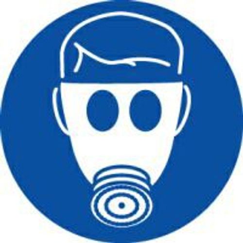 Wear Respiratory Protection ISO Safety Sign