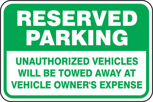 Reserved Parking Unauthorized Vehicles Towed Away At Vehicle