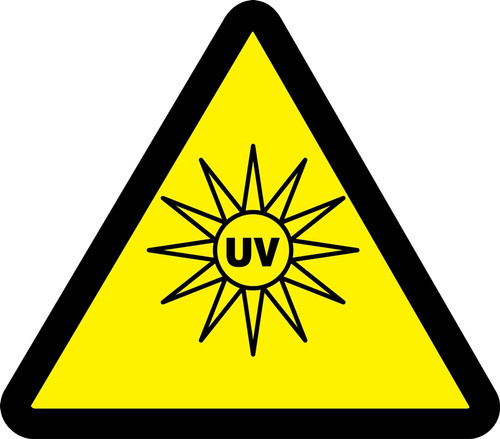 Uv Hazard - Adhesive Vinyl - 6''