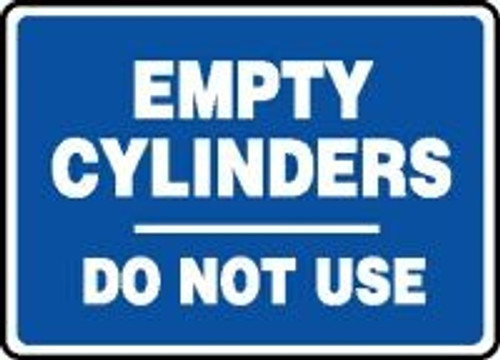 Empty Cylinders Do Not Use 1