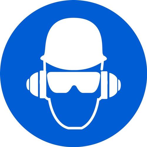 Wear Head, Hearing, & Eye Protection - Plastic - 6''