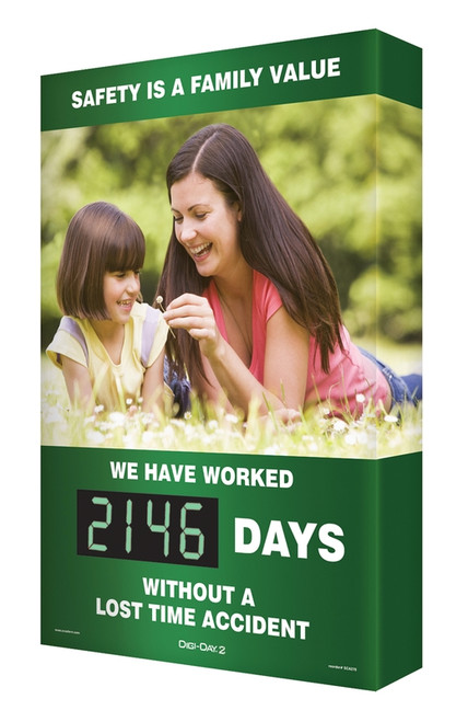 Digi Day 2 Electronic Safety Scoreboards Safety is a Family Value Mom/ Daughter SCG146