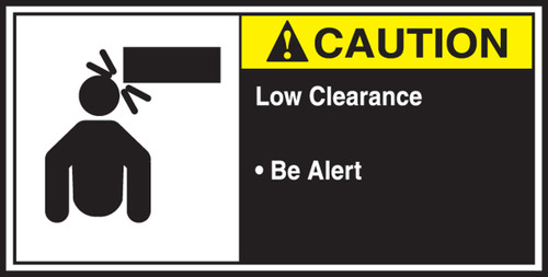 Low Clearance Be Alert Sign