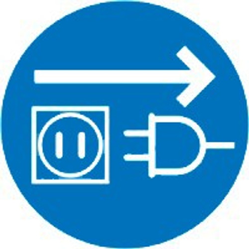 Unplug Electrical Supply ISO Safety Sign