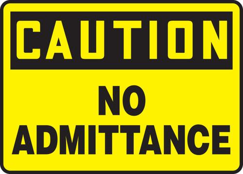 Caution - No Admittance