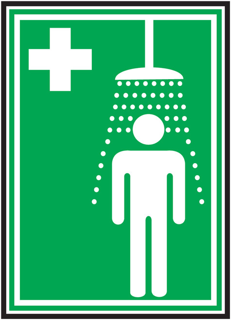 Emergency Shower Iso - Dura-Fiberglass - 10'' X 7''