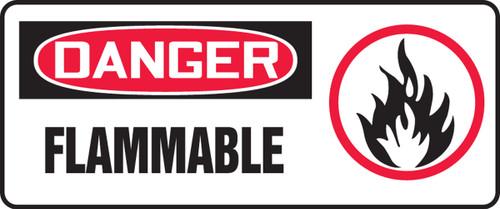 Danger - Flammable (W/Graphic) - Adhesive Dura-Vinyl - 7'' X 17''