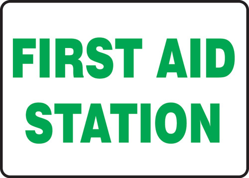 First Aid Station - Adhesive Vinyl - 7'' X 10''