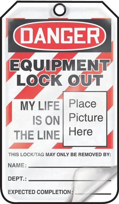 Danger Equipment Lock Out Tag- OSHA Danger Lockout Tag Self Laminating 25/pk cardstock