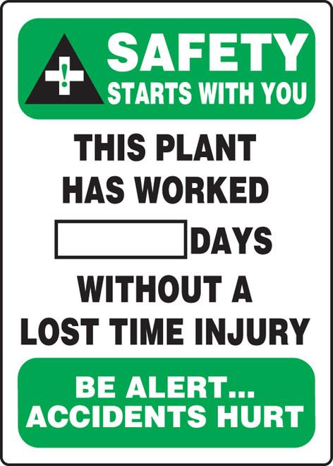 Write A Day Safety Scoreboard 20x14 Plastic 5