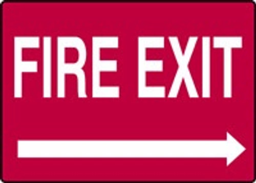 Fire Exit Sign with Right Arrow