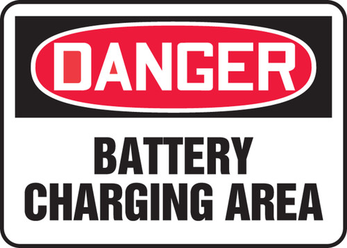 Danger - Battery Charging Area