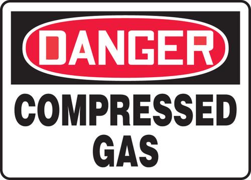 Danger - Compressed Gas - Adhesive Dura-Vinyl - 7'' X 10''