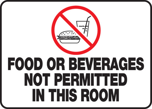Food Or Beverages Not Permitted In This Room
