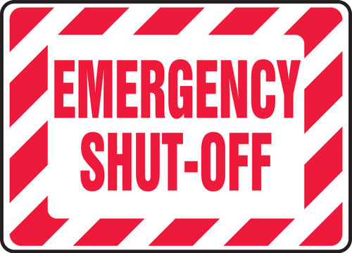 Emergency Shut-Off - Dura-Fiberglass - 10'' X 14''