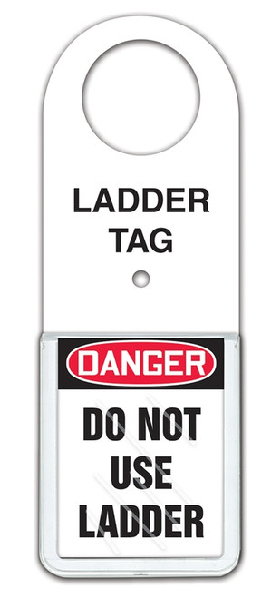 Ladder Tag Status Holder - Danger Do Not Use Ladder