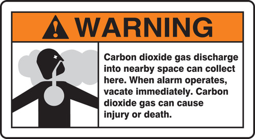 Warning Carbon Dioxide Gas Discharge Into Nearby Space Can Collect...