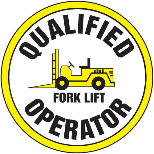 Qualified Forklift Operator Hard Hat Helmet Decal