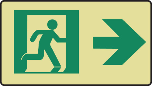 Graphic With Arrow Right- Glow Sign
