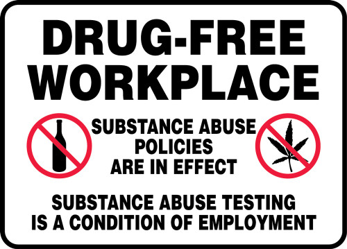 MADM946 Drug Free Workplace Sign