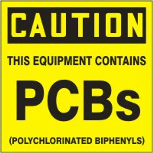 Caution This Equipment Contains Pcbs (polychlorinated Biphenyls)