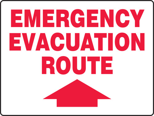Emergency Evacuation Route Sign Arrow Up
