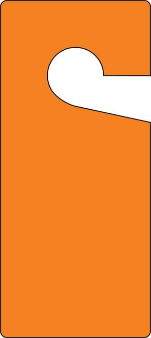 Door Knob Hanger Tag- Blank Orange