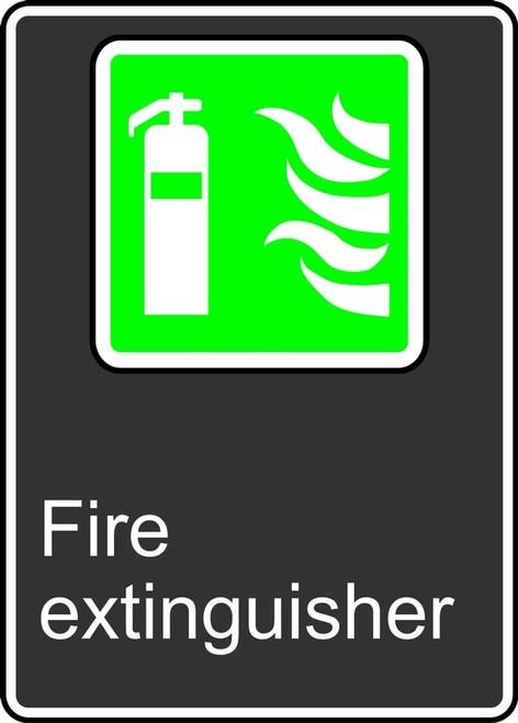 Fire Extinguisher (Extincteur D'Incendie) - Adhesive Vinyl - 14'' X 10'' 1