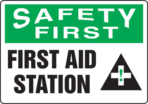 First Aid Station Sign MFSD911VP