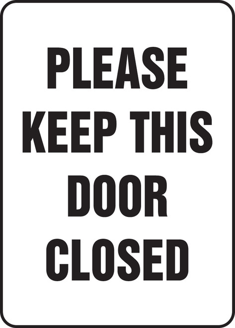 please keep this door closed sign MADM574 XP