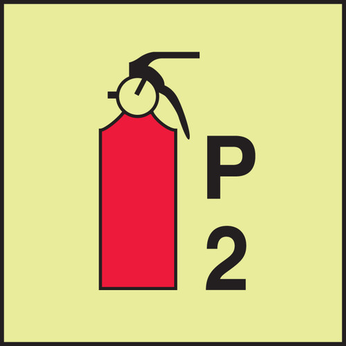 fire extinguisher powder P2 IMO Fire control equipment sign