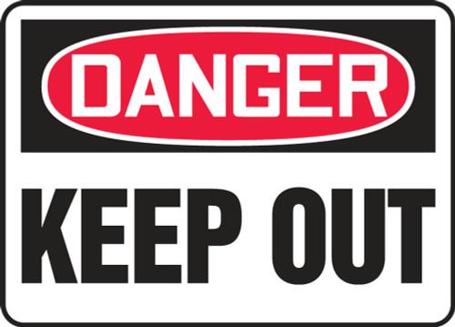 Danger - Keep Out - Adhesive Dura-Vinyl - 14'' X 20''