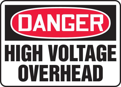 Danger - Danger High Voltage Overhead - Max Aluma-Wood - 48'' X 72''