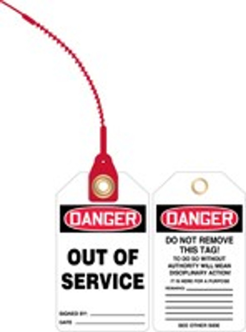 Danger Out of Service Loop n Lock Safety Tag