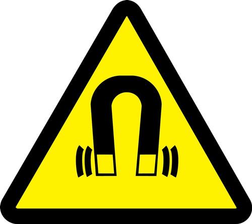Strong Magnetic Field Hazard - Adhesive Vinyl - 6''