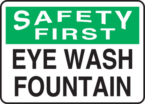 Safety First - Eye Wash Fountain - Plastic - 10'' X 14''
