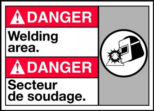 Danger Welding Area Sign