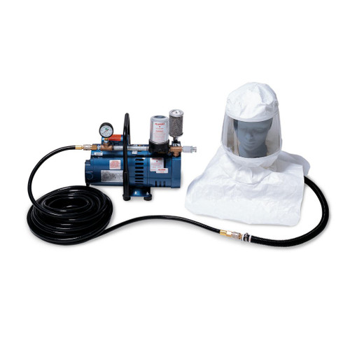Allegro 9230-02 Two-Worker Supplied Air Respirator Tyvek Hood System, 100'  Hose